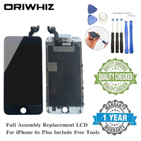 ORIWHIZ LCD for iPhone 6S Plus Display Assembly Digitizer Touch Screen Replacement Front Facing Camera Earpiece Speaker