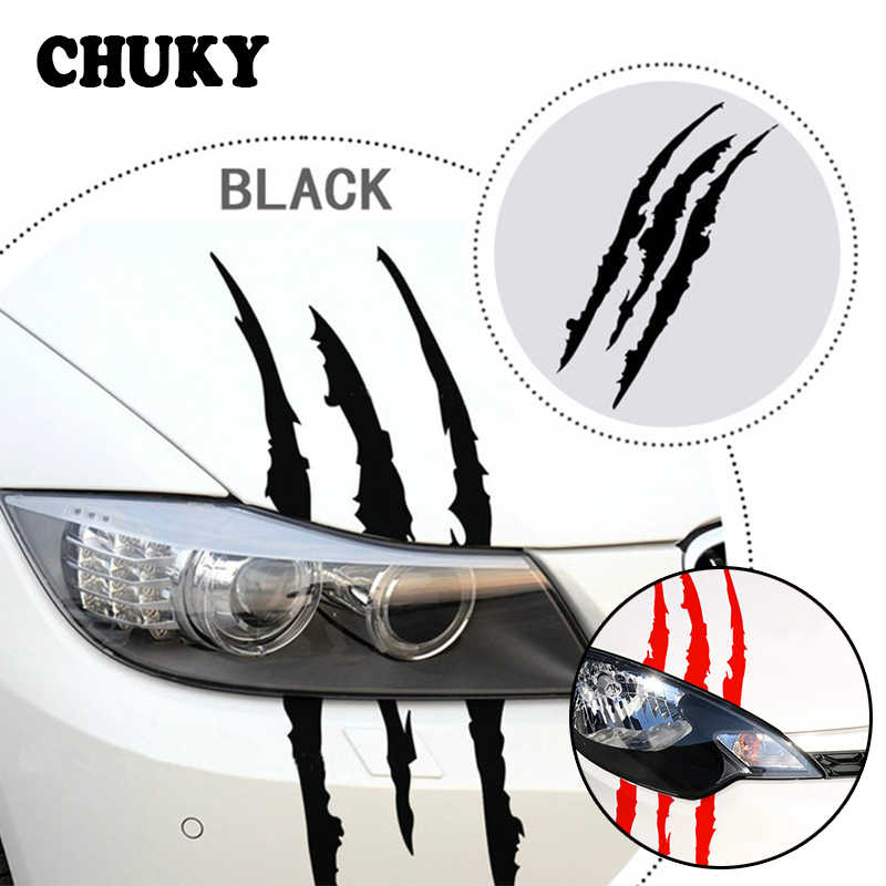 CHUKY Car Styling Scratch Stripe Stickers Car Headlight For Peugeot 307 206 407 Citroen C4 C5 Honda Civic Accord CRV Lada Vesta