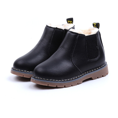 Winter Top Selling Boys Boots 2019 New Fashion Zip Children Boots Girls Snow Boots PU Leather Waterproof Kids Sneakers Winter Top Selling Boys Boots 2019 New Fashion Zip Children Boots Girls Snow Boots PU Leather Waterproof Kids Sneakers