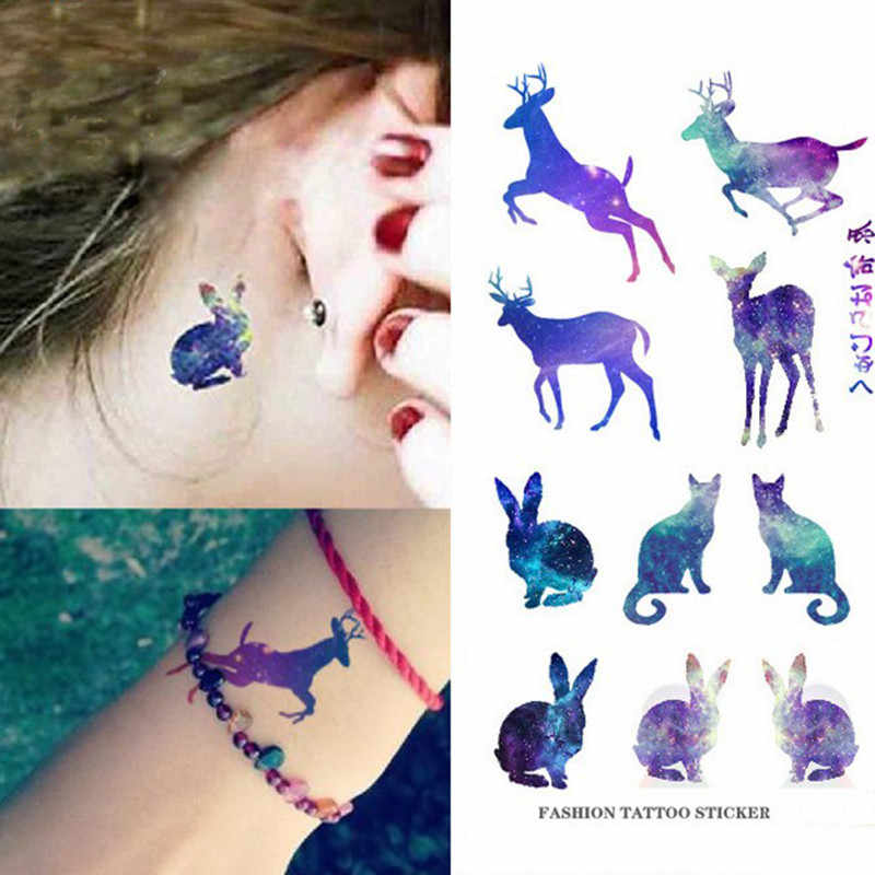 NEW Tattoo Waterproof Fake Tattoos Temporary Tattoo Deer Stickers Tattoos Wrist Water Transfer Sticker Animal Pattern Flash Fake