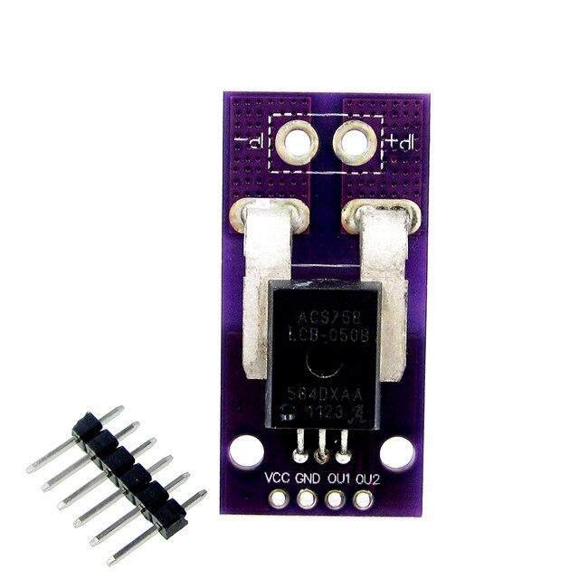 100A/50A הול הנוכחי חיישן מודול AC DC הנוכחי חיישן ACS758LCB 050B ACS758LCB 100B PFF T גבוהה דיוק עבור RC דגם