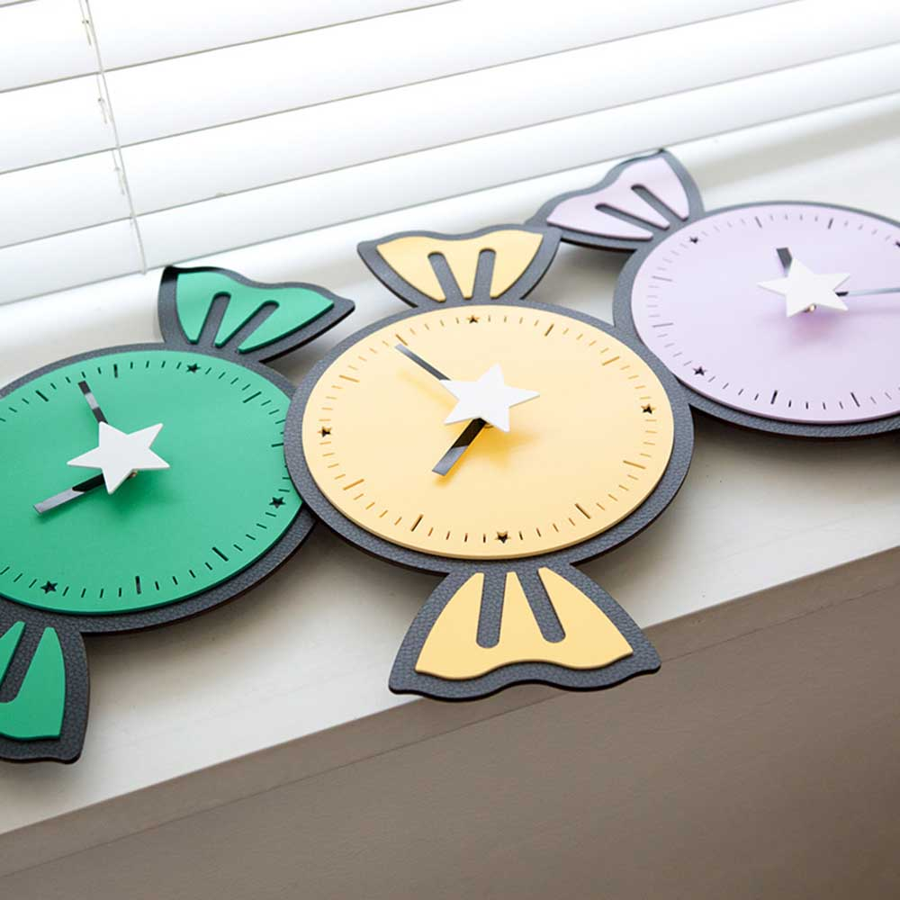 Candy Cartoon Clock Living Room Brief Sweet Clock Children Bedroom Mute  Lovely Wall Clock Family Decor In Wall Clocks From Home U0026 Garden On  Aliexpress.com ...