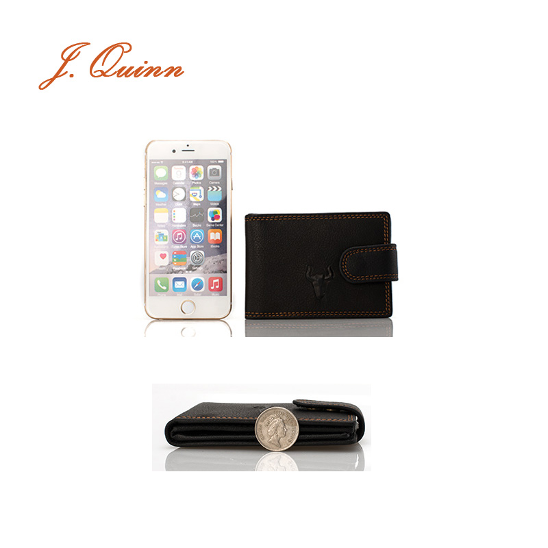 J.Quinn 16 Mini Business Cards Holder Wallet Case ID Flap for Men ...