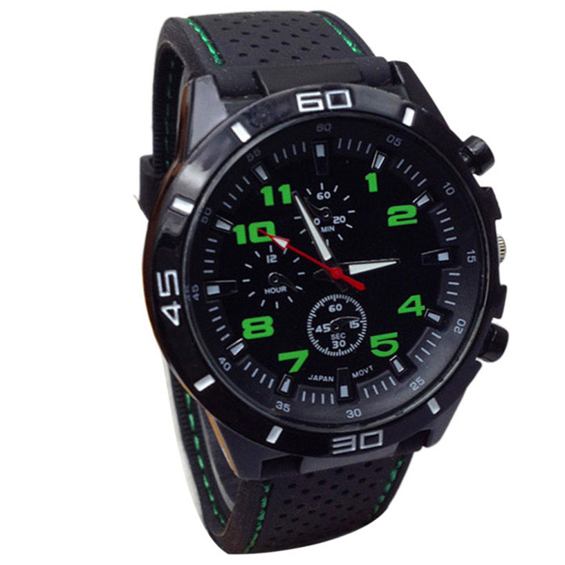 NEW Fabulous Quartz Watch Men Military Watches Sport Wristwatch Silicone Fashion Hours relojes mujer women watches jinnaier 2017 new hot sales fashion 7colors retail men silicone sport wristwatch quartz watch