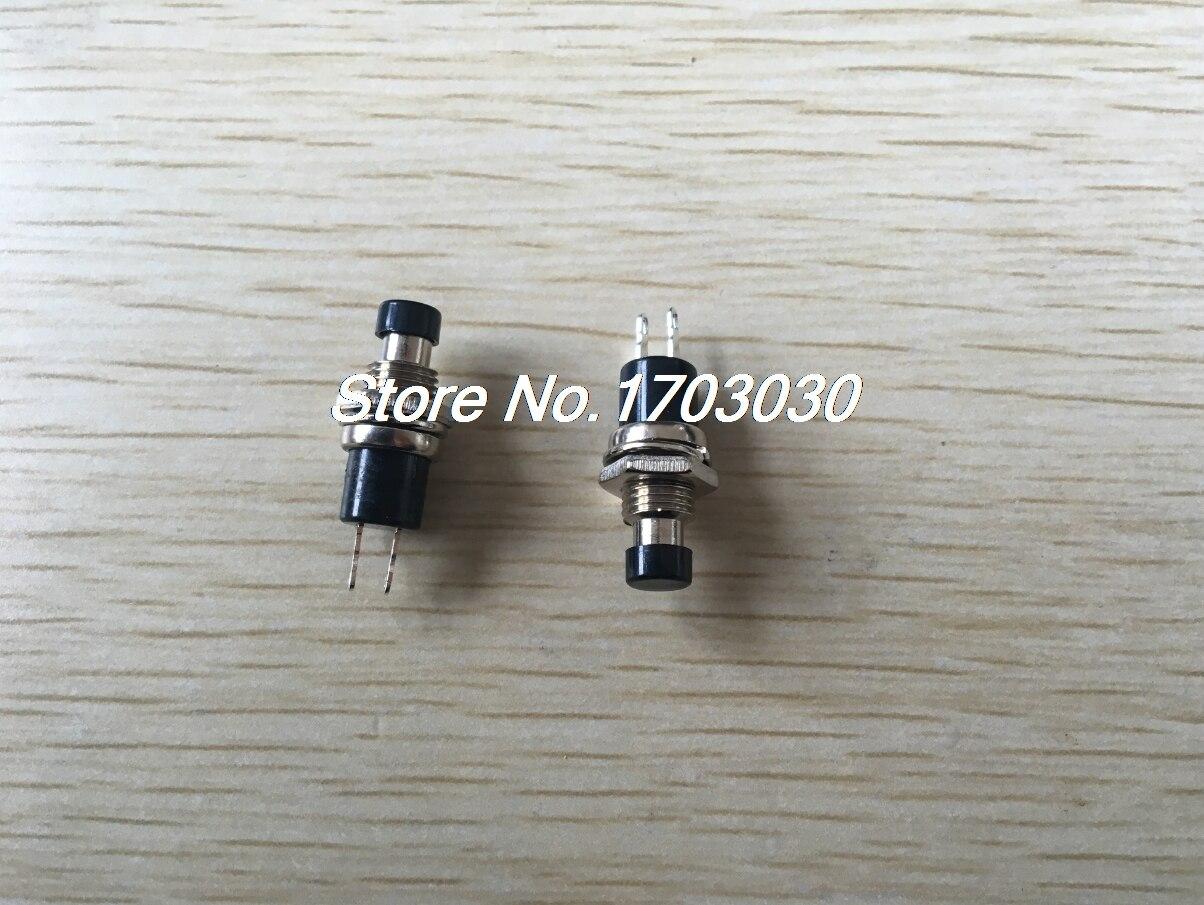 50 pcs SPST Mini Push Momentary Switch Black Cap 250V/3A 125V/6A Nomally Off  [vk] 1241 3257 switch push spst no 100ma 42v switch