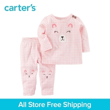 Carter s 2 Piece baby children kids clothing Girl Spring Bear Top Pant Set 127G708