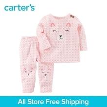 Carter's 2-Piece baby children kids clothing Girl Spring Bear Top & Pant Set 127G708