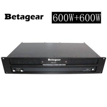 Betagear Professional Power Amplifier 600W+600W RMS / 4ohm:1000W+1000W Amplifier lightweight Powerful amplificador profesional