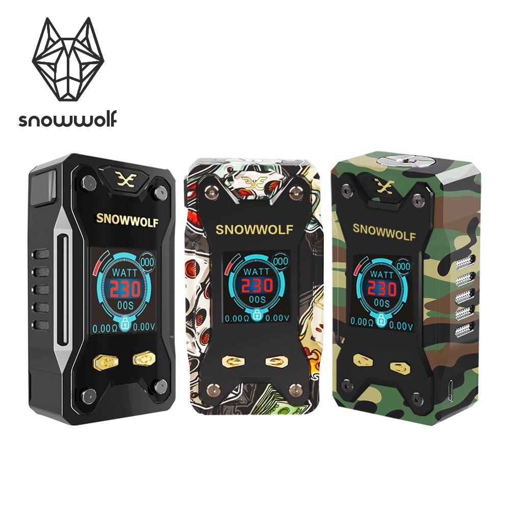 Cigarette électronique originale SNOWWOLF Xfeng 10 W-230 W TC Vape Box Mod 1.3 pouces TFT affichage et bande de roulement 510 Sigelei Ecig pas de batterie