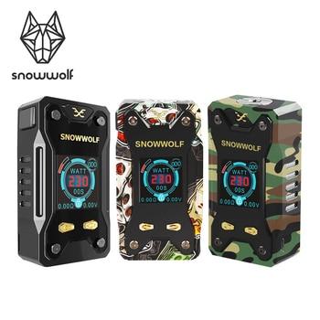 цена на Electronic Cigarette Original SNOWWOLF Xfeng 10W-230W TC Vape Box Mod 1.3 inch TFT Display and Tread 510 Sigelei Ecig No Battery