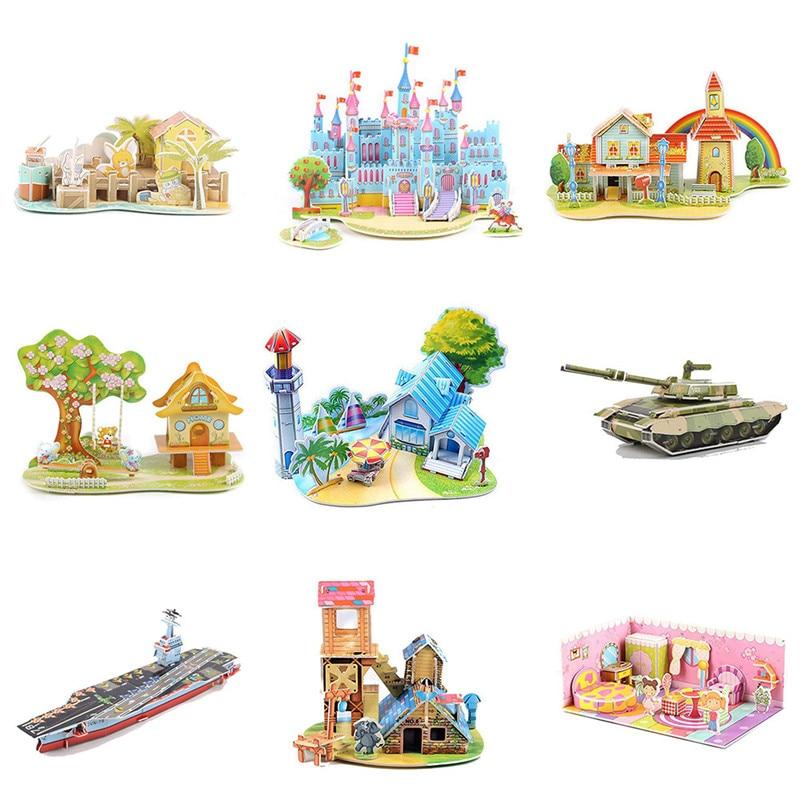 Dynamisch 3d Papier Board Puzzel Vroeg Leren Bouw Monteren Speelgoed Kinderen Gift 10.1
