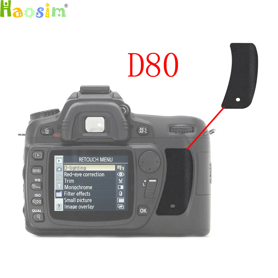 For Nikon D80 The Thumb Rubber Back cover Rubber DSLR Camera Replacement Unit Repair PartFor Nikon D80 The Thumb Rubber Back cover Rubber DSLR Camera Replacement Unit Repair Part