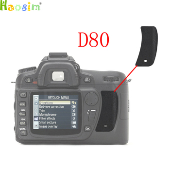 For Nikon D80 The Thumb Rubber Back cover Rubber DSLR Camera Replacement Unit Repair Part image