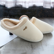 Women House Slipper Winter Plus Size 43-44 TPR Suede Short Plush Warm Fur Slippers For Girls Casual  Factory Outlets цена 2017