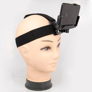 Image 5 - Universal soporte de clip para teléfono con pecho Gopro cinturón/correa para la cabeza de iPhone Samsung Huawei xiaomi smartphone para escalada ciclismo