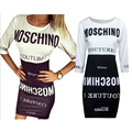 HOT SELL 2016 Fashion Patchwork contrast color letter print women dress white hippie sun dress sexy casual outfits w100