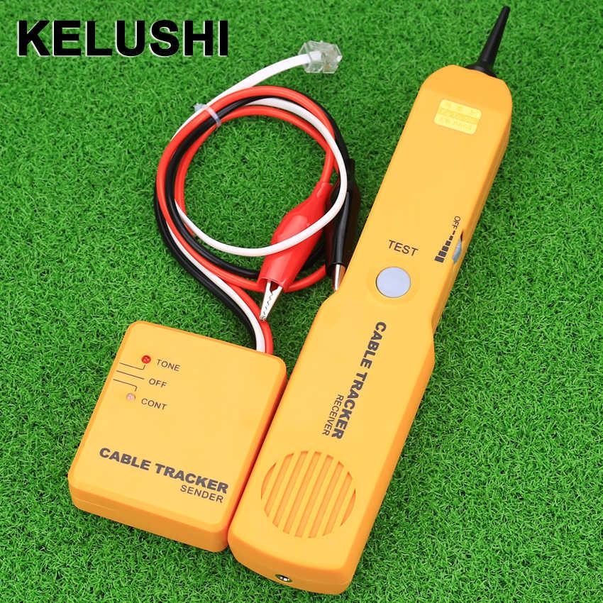 KELUSHI Taşınabilir RJ11 Ağ Telefon Telefon Kablosu Test Cihazı Toner Tel Tracker Tracer Teşhis Bulucu Dedektörü Ağ Araçları