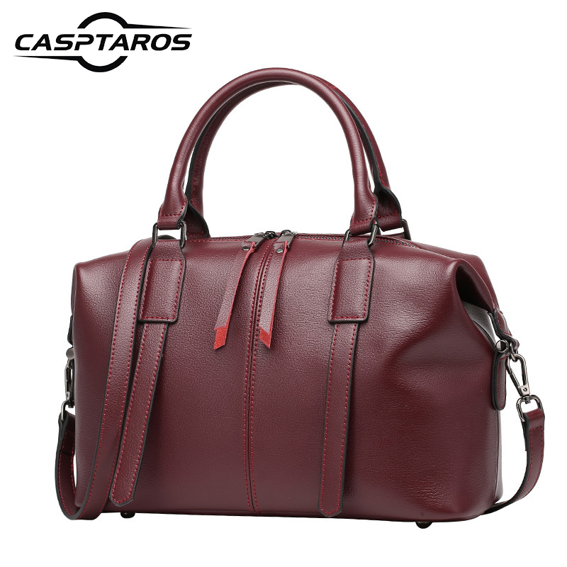 2017 New Genuine Leather Women's Shoulder Bag Lady Handbag Messenger Bag Female High grade Famous Brands Design Boston Bags Tote iceinnight genuine leather bags new design handbag women famous brand messenger bags high quality travel shoulder bag for female