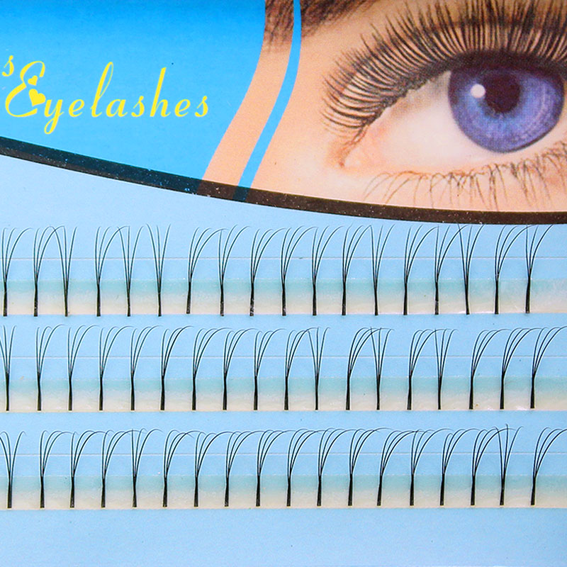 Navina Professional 3D Volume Effect Eyelash Extension Individual Eyelashes Long Black Makeup False Eye Lash 0.10 C Curl Cilia