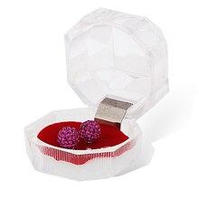 Bisutería, estuches/tres colores cajas de regalo/joyería de embalaje y pantalla/pendiente/anillo 4*4*4