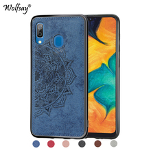 For Samsung Galaxy A30 Shockproof Soft TPU Cloth Texture Hard Phone Bumper Cover Fundas