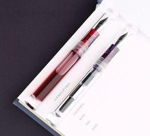 Image 3 - מונמן C1 שקוף הטפטפת עט נובע F ציפורן דיו עט קופסא מקורית