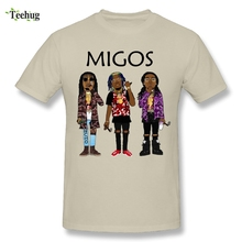 2018 New Arrival Man Migos T Shirt Popular Hip Hop Streetwear Soft T-Shirt