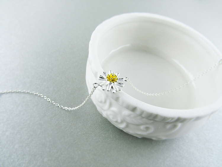 AKOLION Silver Cherry Blossoms Bracelets Charm Flower Bracelets 925 Sterling Jewelry For Girl Women 19
