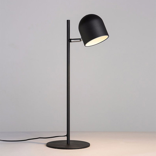 The Nordic Modern Minimalist Touch Lamps Iron Bedroom Bedside Eye Reading  Office Desk Lamp Free