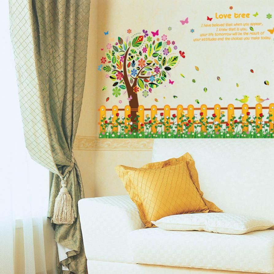 Colorful 3D Wall Stickers Romance Decoration Wall Poster Home Decor ...
