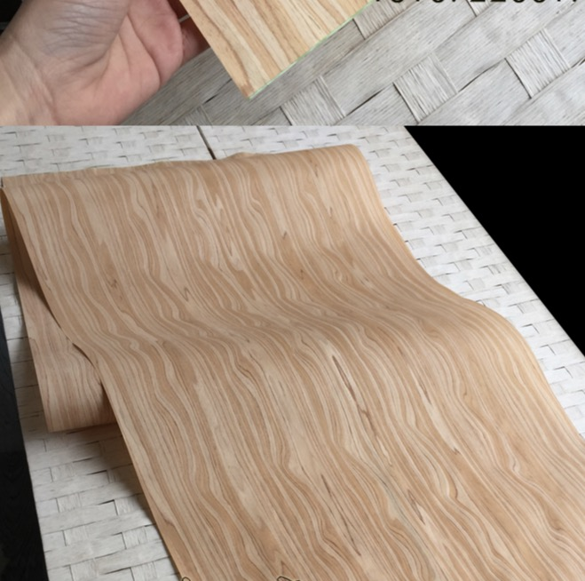 2Piece/Lot  L:2.5Meters Width:55cm Thickness:0.2mm Technology Olive Wood Veneer