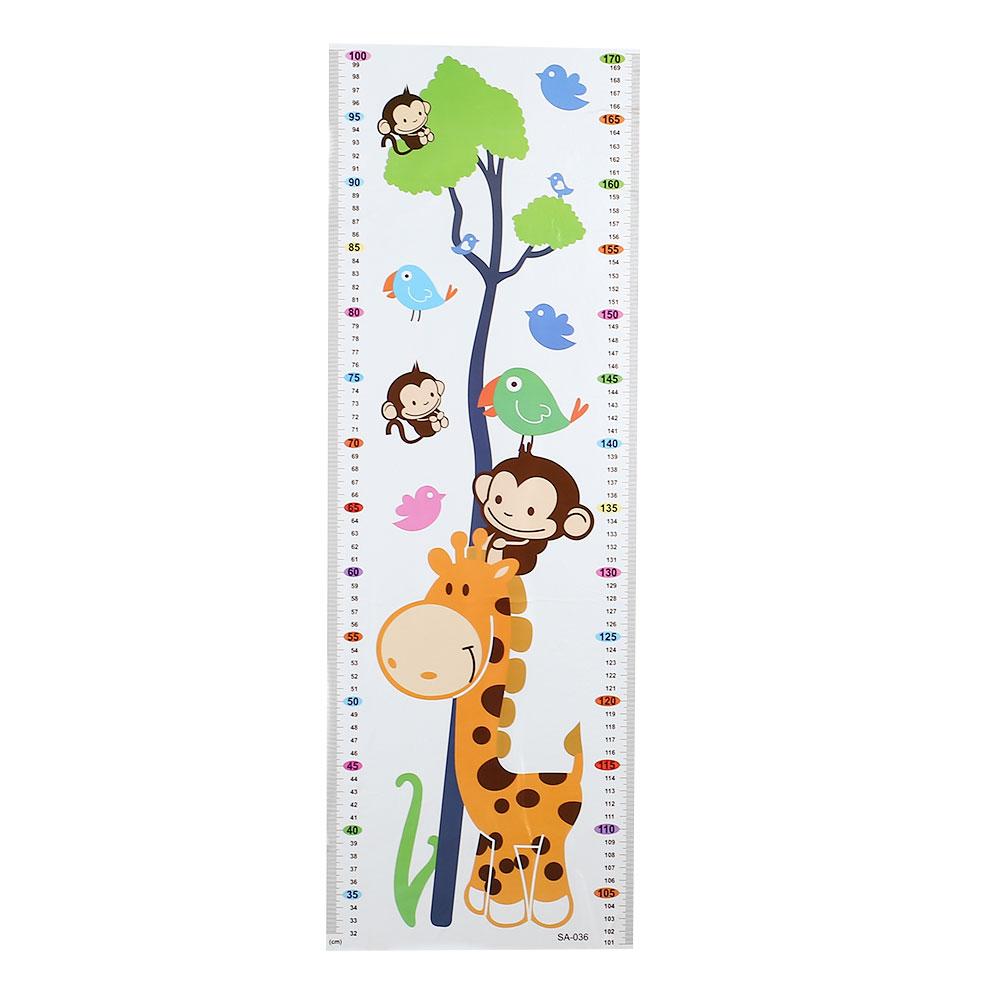 HTB1Nrf6a4uaVKJjSZFjq6AjmpXaY - Cartoon PVC Kids Height Chart Wall Sticker For kids rooms