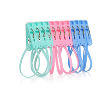 6/12Pcs Mixed Color Plastic Clothes Pegs Storage Clip Portable Home Hangers for Hanger Drying Rack Towel Pins