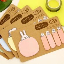 2017 Hot Sale Real Stationary Cute Novelty Kawaii Animal Kraft Paper Mini Memo Pad Sticky Notes Bookmark Gift Stationery K6773