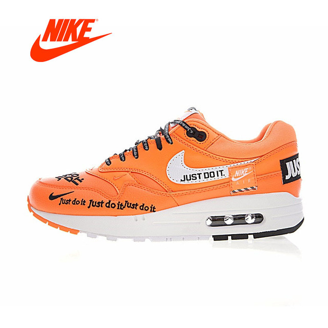 Original New Arrival Authentic Nike Air Max 1 Just Do It Men s Running  Shoes Sport Outdoor Sneakers Good Quality 917691-100 6b178523c37d