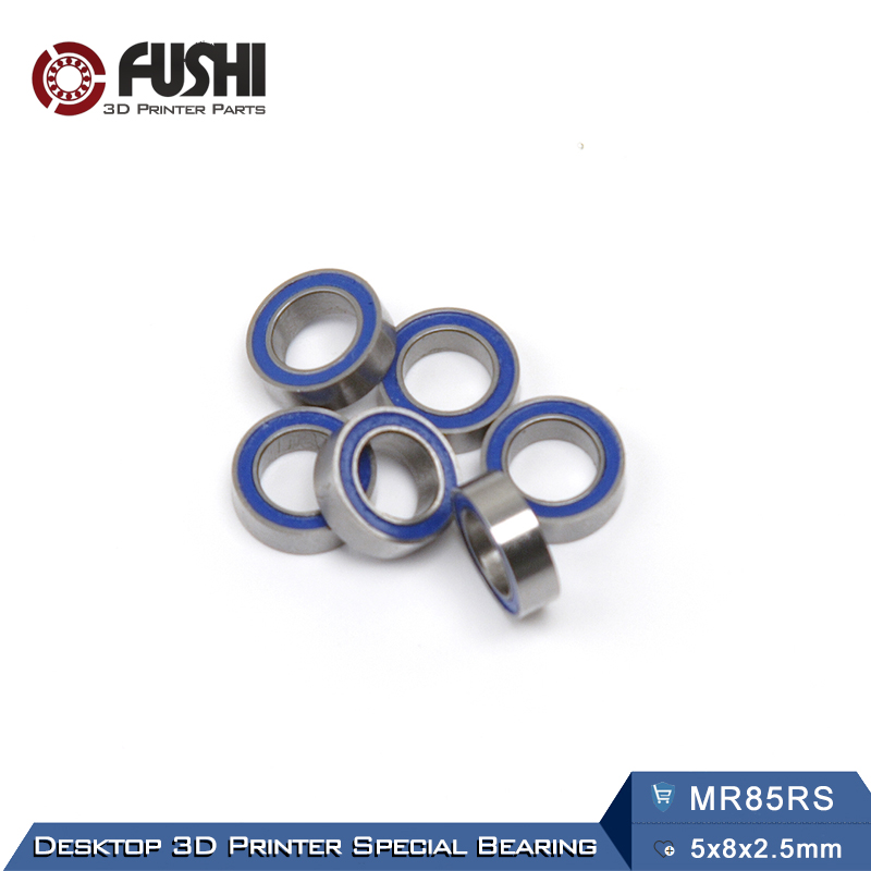 MR85RS Bearing ABEC-3 (10PCS) 5X8X2.5 mm Miniature MR85-2RS Ball Bearings Blue Rubber Sealed MR85 RS free shipping 4pcs 13x19x4 blue rubber bearings abec 3 mr1913 2rs