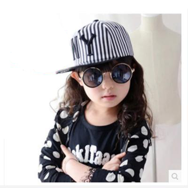 spring and autumn stripe ny letter small boy girl child baseball