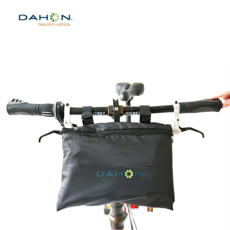 DAHON складная сумка для велосипеда с большой емкостью, сумка для велосипеда MTB, велосипедная Рама, сумка для руля, многофункциональная сумка д