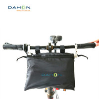DAHON Foldable Large Capacity Carry Bicycle Front Bag MTB Bike Frame Handlebar Bags Multifunctional for 20 Folding Bicycles