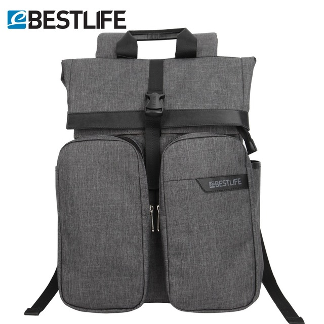 BESTLIFE Men Travel Backpack Mochila Polyester Roll Top Rugzak For ...