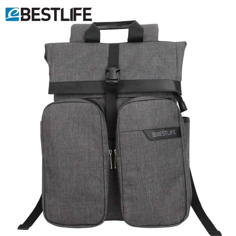 BESTLIFE Men Travel Backpack Mochila Polyester Roll Top Rugzak For Teenager Casual High Capacity Notebook Computer Backpacks