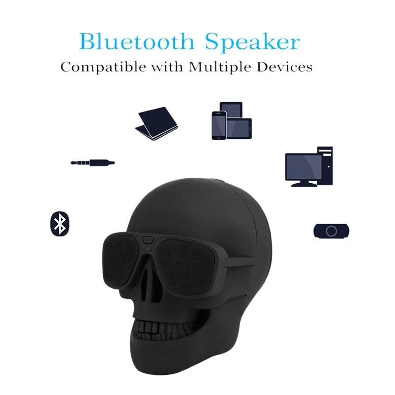 Skull Bluetooth Speaker Portable Wireless Player Bass High Power Column Bluetooth Hoparlor Mini Speaker Portatil Sound