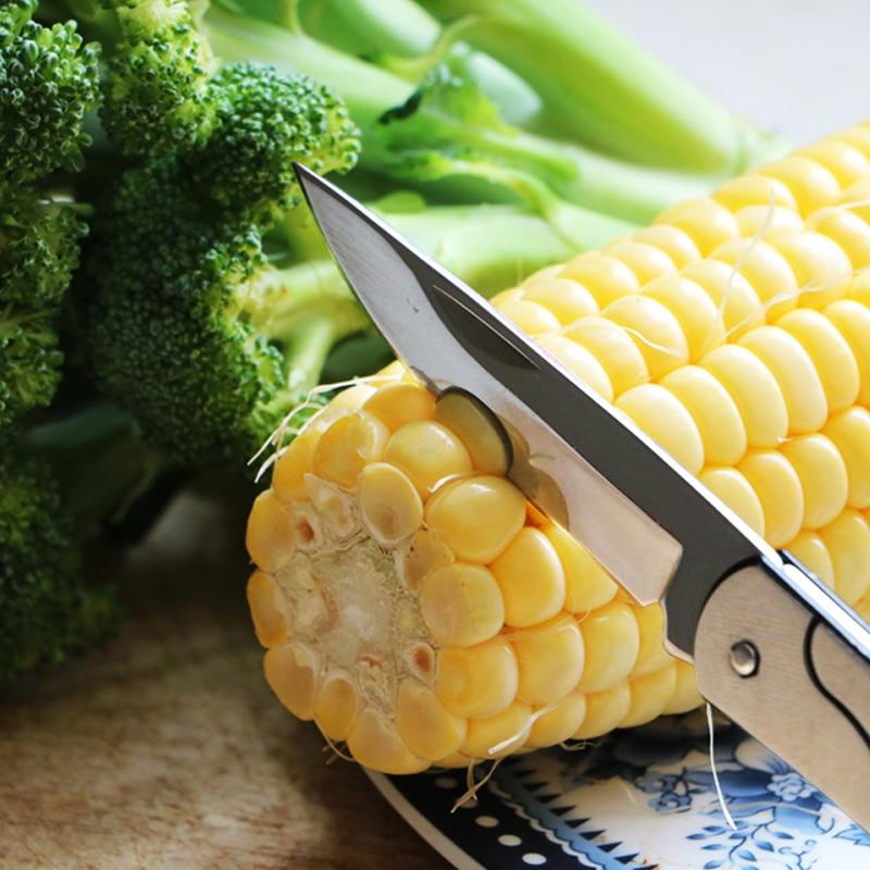 Free shipping Stainless steel fruit knife pocket folding key knife fruit sharpener kitchen tool small tool|stainless steel fruit knife|fruit knifeknife fruit - title=