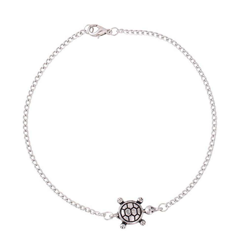 Nowa moda Turtle Charm bransoletka łańcuch kostki kobiety Anklet lato plaża biżuteria