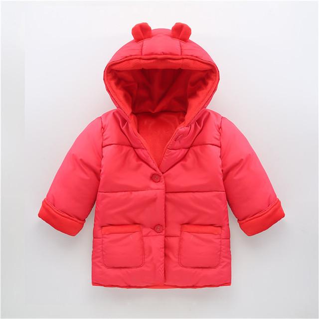 0-2 Años Bebé de La Manera Algodón Grueso Abrigo de Invierno Cálido Ropa de Niño Abrigos Infantiles Para Niños Y Niñas Toldder Bebé chaqueta de Traje Para La Nieve