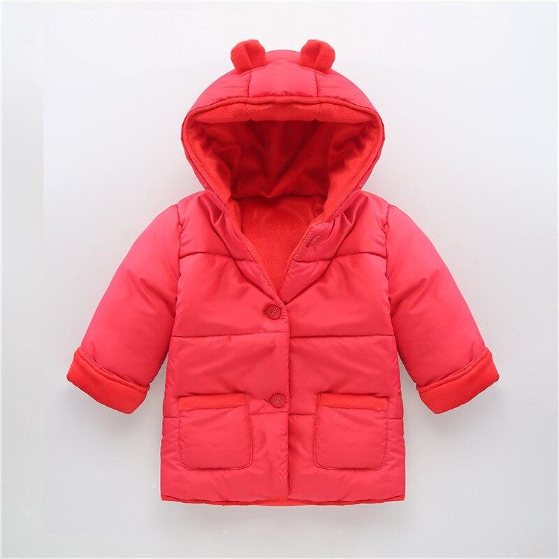 0-2 Лет Мода Детская Пальто Хлопка Толщиной Зима Теплая Мальчик Одежда Детские Пальто Для Мальчиков И Девочек Toldder куртки Детские Snowsuit