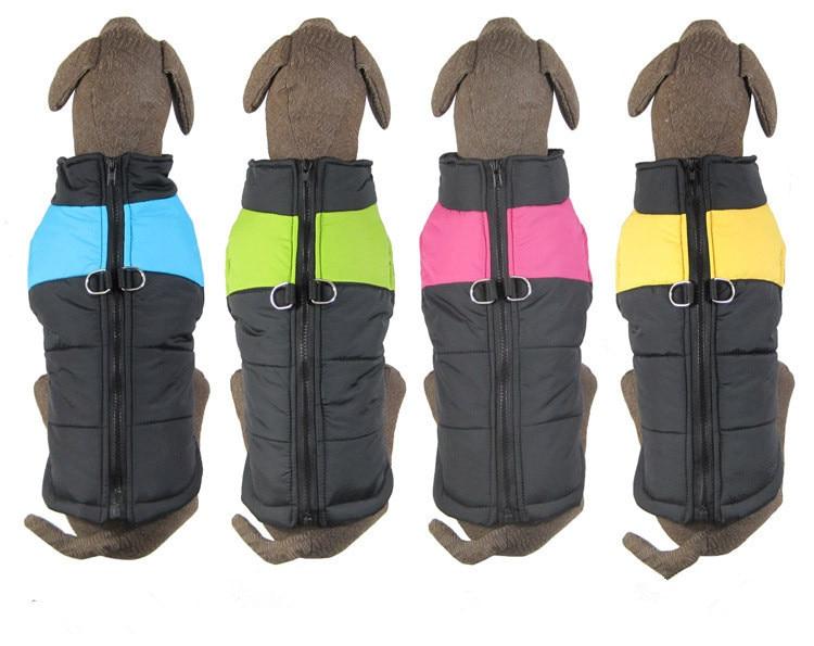 Grote hond warme winter kleding Grote hond kleding Hond rits vest - Producten voor huisdieren