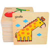 Wooden Educational Kids Toys Puzzle Children Pieces Baby Educational Juguetes Jigsaw Brain Teaser Learning Kids Games