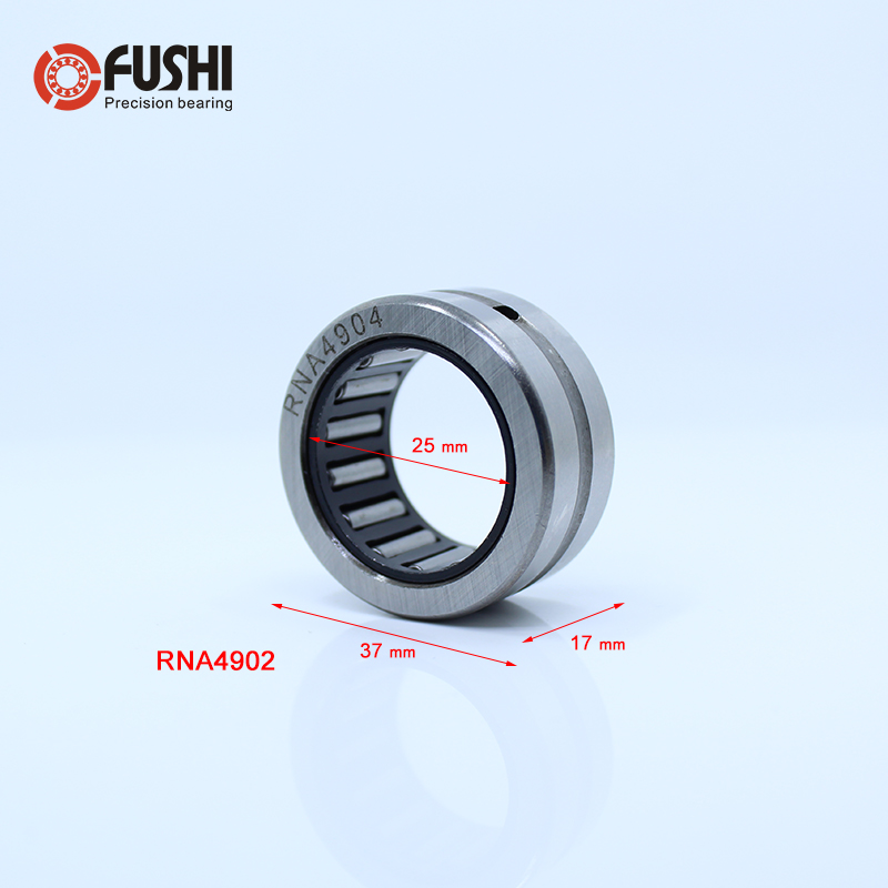 RNA4904 Bearing 25*37*17 mm ( 1 PCS ) Solid Collar Needle Roller Bearings Without Inner Ring 4624904 4644904/A Bearing nk25 30 needle roller bearing without inner ring size 25 33 30mm