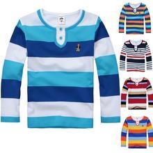 High quality baby toddler big children t-shirts boys girls clothes kids t shirt spring autumn cotton long sleeve shirt